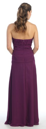 Mother of the Bride Formal Evening Dress #630 (4XL, eggplant)