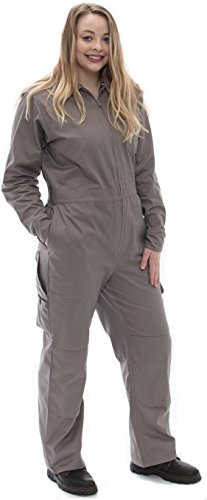 Rosies Workwear Work Coveralls Griege with Polka Dot Trim (Short Small)