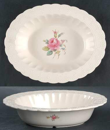 Spode Billingsley Rose Oval Vegetable Bowl 10 1/4