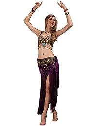 Tribal Belly Dance Costume,Halter Bra Hip Scarf 2pcs,6 Colors