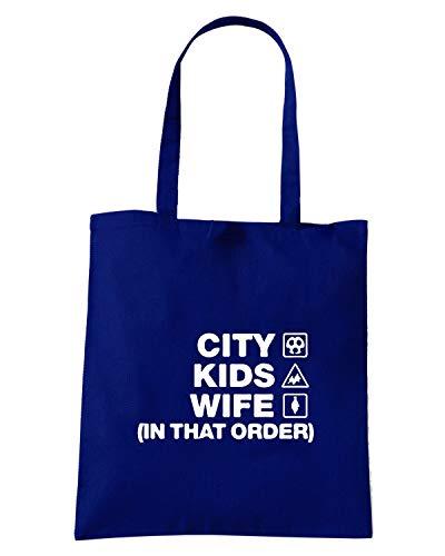 Speed Shirt Borsa Shopper Blu Navy WC1089 LEICESTER CITY KIDS WIFE