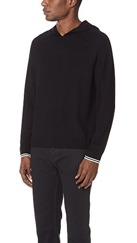 Vince Men's Pullover Hoodie Sweater, Black, Medium by Vince (Image #3)