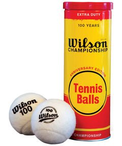 Tennisball Anniversary Metal 3 Ball White