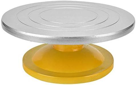 DIYセラミック陶器ターンテーブル、30cmプラスチックスチールターンテーブルクレイ彫刻モデリングケーキ作りスカルプトフラワーツール