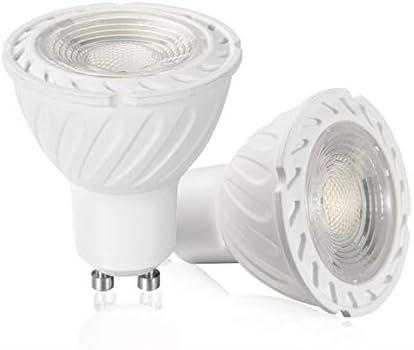 YAYZA! 8-Paquete Nueva Generación MR16 GU10 6W Red Eléctrica AC LED COB Foco Bombilla 500lm 50W Halógena Equivalente A60 Grados De Haz Ancho Lámpara No Regulable Color Blanco Cálido 3000K