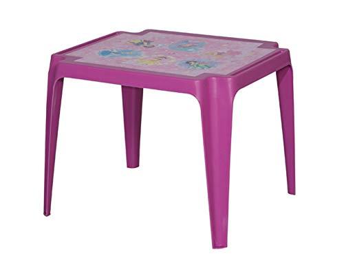 PRO GARDEN Progarden 943 Tavolo Baby Princess - Mesa Infantil (plastico, 50 x 55 x 45 cm), Color Rosa