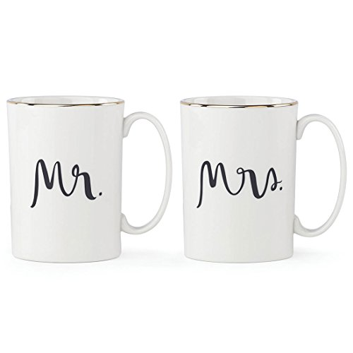 kate spade new york Bridal Party Mr. & Mrs. 2-piece Mug Set