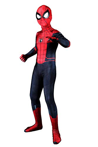 Halloween Costume Spider Suit Tom Holland Superhero Cosplay Bodysuit Zentai,for Height 120cm]()