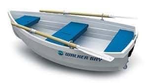 "Walker Bay 10, 9'8"" Length, 4'9"" Beam, 126lb., 449lb. Capacity (up to 3 people)"
