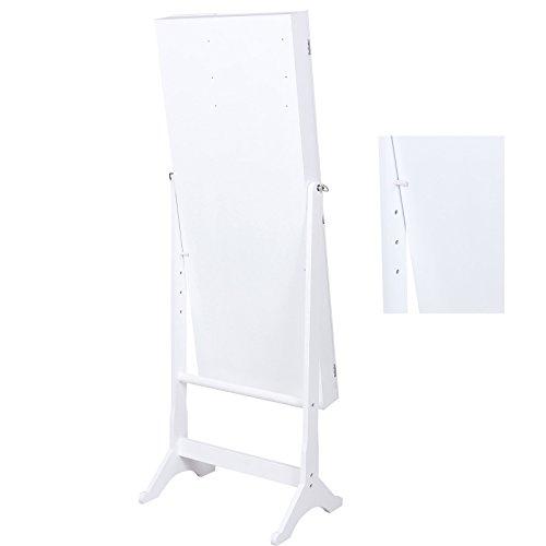 Songmics 154 x 53 x 38 cm Schmuckschrank Spiegelschrank mit galerie bilderrahmen Weiß JBC27W - 4