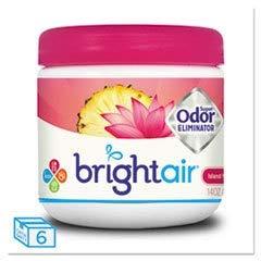 Island Nectar - BRIGHT AIR Super Odor Eliminator, Island Nectar And Pineapple, Pink, 14oz, 6/carton