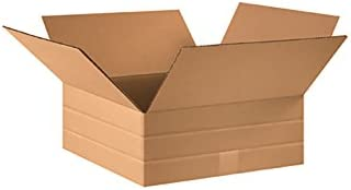 16 Length 16 Width 6 Height RetailSource B161606MD25 Multi-Depth Corrugated Box Brown Pack of 25