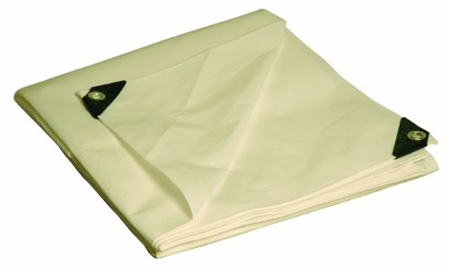 - 8X10 Multi-Purpose White Heavy Duty DRY TOP Poly Tarp (8'x10')