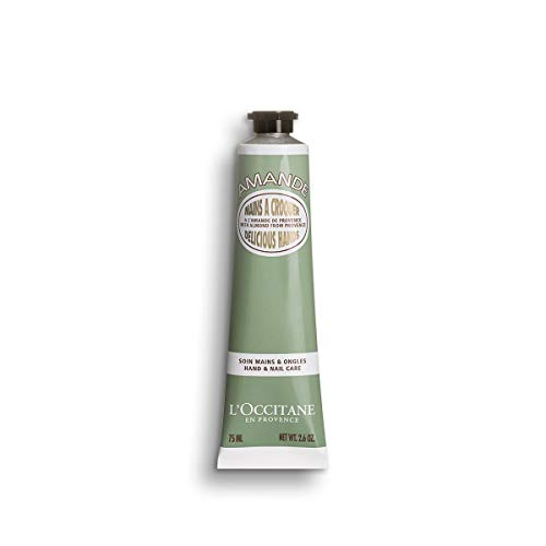 LOccitane Almond Delicious Hands Moisturizing Hand Cream Enriched with Almond Oil, Net Wt. 2.6 oz.
