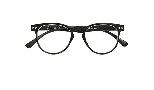 082df8e1544 Amazon.com  GL2137 Kent +1.0 Matt Black Round Style Unisex Reading Glasses  Goodlookers  Health   Personal Care
