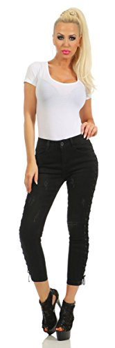 Dcontract 40 Jeans M Turquoise Femme Fashion4Young turquoise Noir qw1PpBWx5