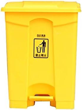 滑らかな表面 ショッピングモールには大容量のゴミ箱缶、ホーム屋外ガーデンごみ箱学校事務回廊のごみ箱 リサイクル可能なデザイン (Color : Yellow, Size : 68L)