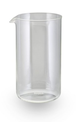 BonJour 8-Cup French Press 53315 Replacement Glass Carafe, Universal Design ()