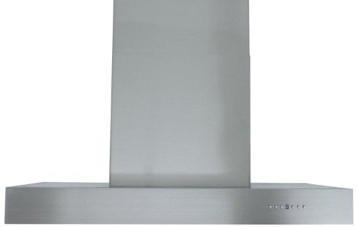Z Line KECOM-48-LED 1200 CFM Pro Island Range Hood with Baffle Filters, 48-Inch ()