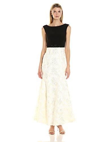 Alex Evenings Women's Long Embellished Waist Dress, Black...