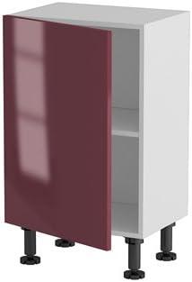 Atelier Du Menuisier Meuble Cuisine Bas 50cm Petite Profondeur 1 Porte 50 70 Parme Rouge Brillant Amazon Fr Cuisine Maison