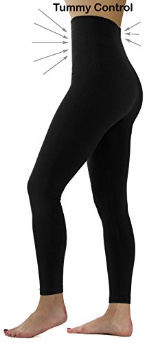 Ylluo High Waist Leggings Fleece Lined Tights (S/M/L (US Size 2-10), Black)