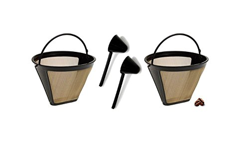 Replacement Permanent Coffee filter Cuisinart GTF Gold Tone Filter for CHW-12 with Large Coffee Scoop by Modern Impressions