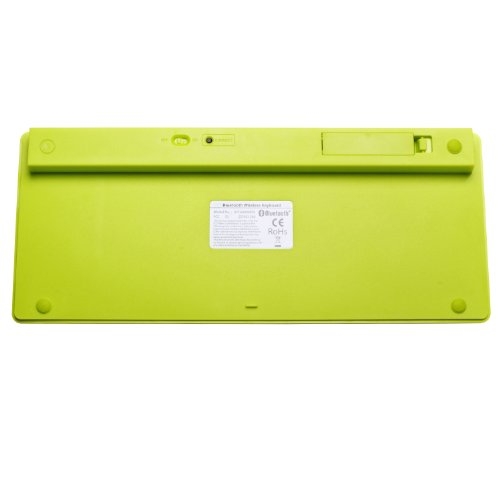 Hype Ultra-Slim Bluetooth Wireless Keyboard for Apple iPhone 6 Plus 5s iPad 4 Mini, Samsung Galaxy s5, Android Tablets - Green Photo #2