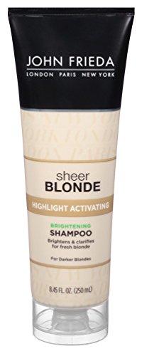 John Frieda Sheer Blonde Highlight Activating Brightening Shampoo Darker Blondes, 8.45 oz (Pack of 2) - Sheer Blonde Shampoo Honey