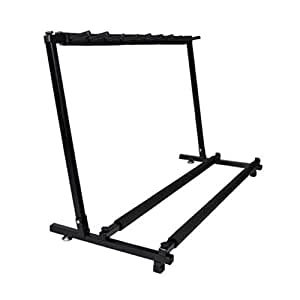 ironheel guitar folding rack universal multiple guitar folding rack storage. Black Bedroom Furniture Sets. Home Design Ideas