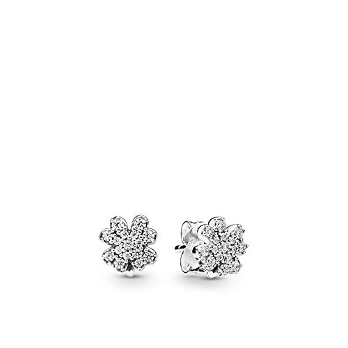 PANDORA Radiant Clovers 925 Sterling Silver Earrings - 297944CZ