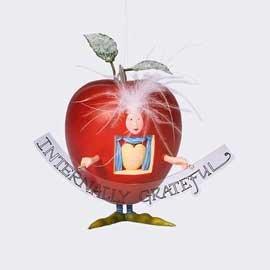 56 Krinkles Dept - Dept 56 Krinkles **Greatful Apple Ornament** 38198