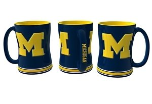 Michigan Wolverines Sculpted Coffee Mug