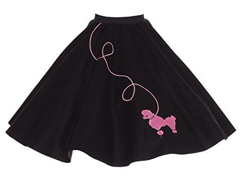 Hip Hop 50s Shop Adult 7 Piece Poodle Skirt Costume Set Black and Pink XLarge by Hip Hop 50s Shop (Image #5)