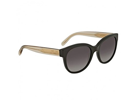 Burberry BE4187 35078G Black / Gold / Clear BE4187 Round Sunglasses Lens - Burberry Shipping