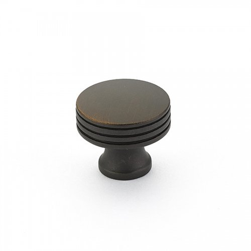 Schaub Menlo Park Collection 1-1/4 in. (32mm) Knob, Ancient Bronze - 532-ABZ