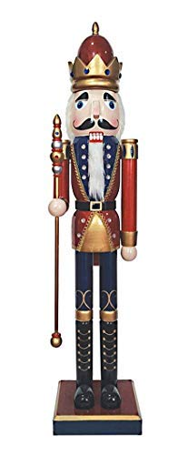 Santa's Workshop His Royal Majesty Nutcracker 36'' Tall Red/Blue/Gold