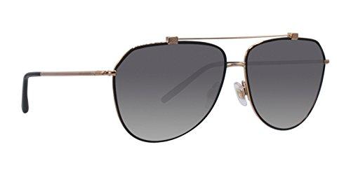 Dolce & Gabbana Women's Ortensia Aviator Sunglasses, Black/Grey, One Size