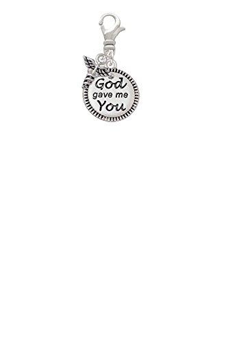 God Gave Me You Mini Caduceus Clip On Charm