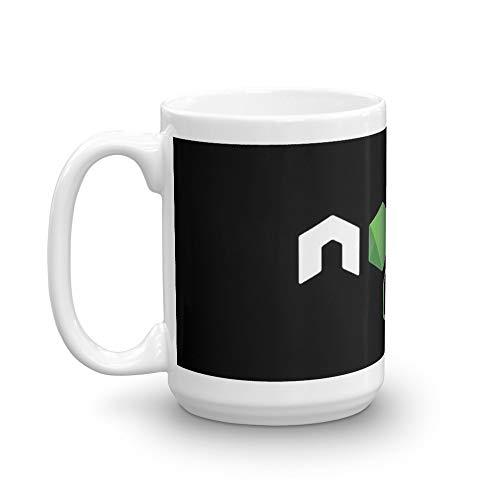 NodeJS JavaScript Programmer 15 Oz White Ceramic