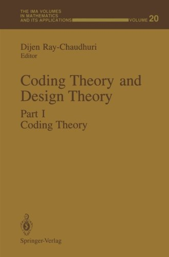 Price comparison product image 1: Coding Theory and Design Theory: Part I Coding Theory (The IMA Volumes in Mathematics and its Applications)