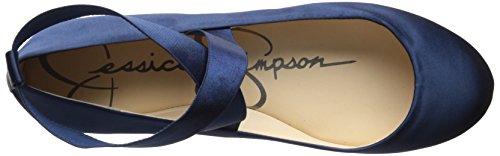 Jessica Simpson Ballet Mandayss Femme Plat Marine Satin
