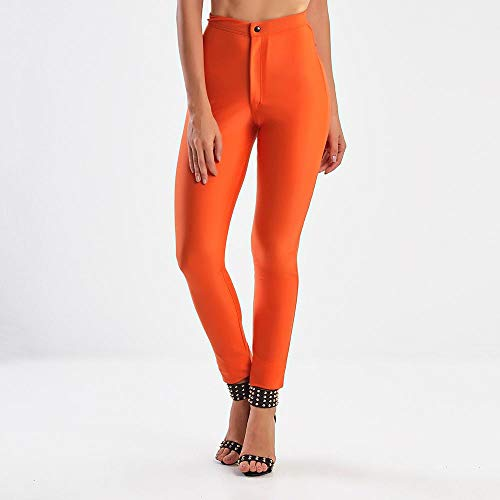 Calça Legging Feminina Sexy Pants Orange - M