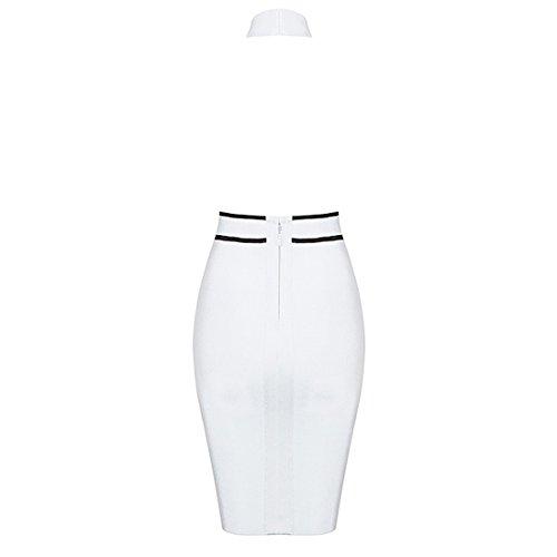 HLBCBG - Vestido - Sin mangas - para mujer blanco