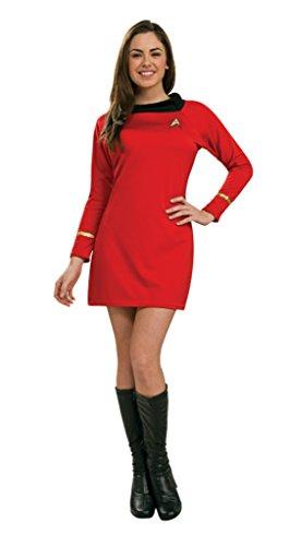 Rubies Womens Classic Startrek Command Halloween Themed Red Costume, XS (0-2) ()
