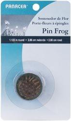 Panacea Bulk Buy Pin Frog 1-1/8 inch Round 1 Pack -Green (3-Pack)