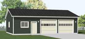 Garage plans 2 car heavy duty with shop for 20 x 40 shop plans