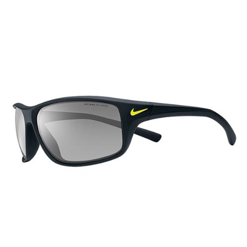 Nike Adrenaline Sunglasses, Matte Black, Grey with Silver Flash ()