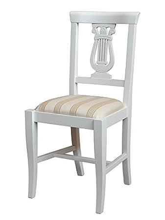 Polsterstuhl Mit Schöner Rücklehne, Starke Struktur Aus Holz, Stuhl Für  Wohnzimmer, Esszimmer,