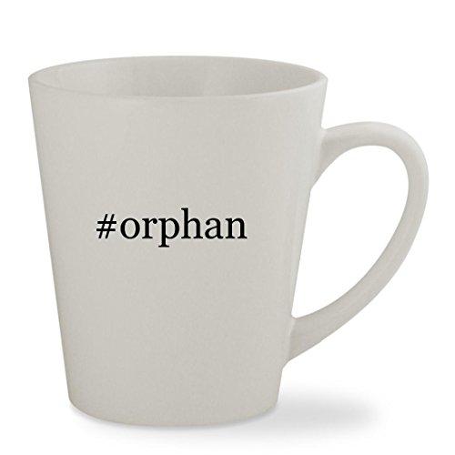 #orphan - 12oz Hashtag White Sturdy Ceramic Latte Cup Mug - Cosima Costume